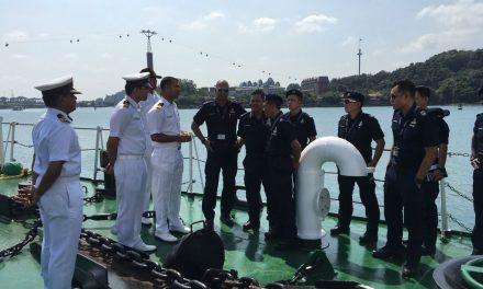 India Coast Guard Ship Vaibhav visited Singapore