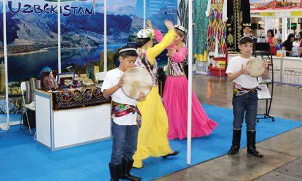 Uzbek Dancers Charm NATAS Visitors