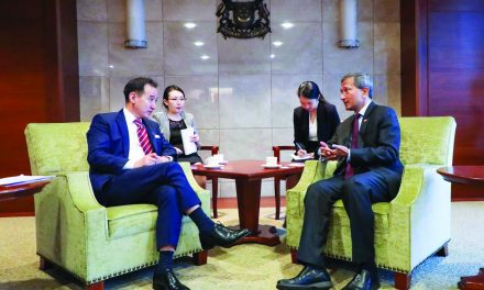 Official Visit: FM Damdin Tsogtbaatar in Singapore