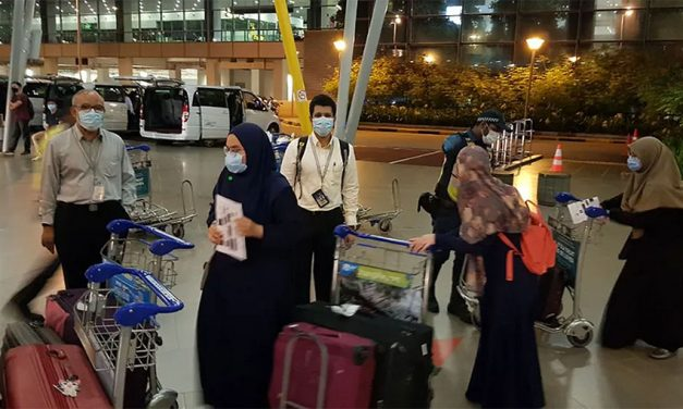 Singaporeans Repatriated Home from Cairo in Charted Flight