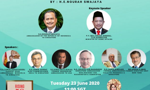 INVITATION – RISING 50 NEW BOOK BY AMBASSADOR N. SWAJAYA LAUNCH – TUE 23rd Jun 2020 11am SGT