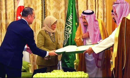 Singapore President Halimah Upbeat on Saudi-Singapore Ties